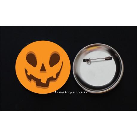 Badge Broche Epingle Halloween citrouille