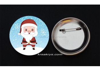 Badge Broche épingle collection Noël, le Père Noël