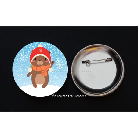 Badge Broche Epingle Noël, le Père Noël