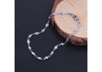 Bracelet fleurs et coeurs en acier inoxydable