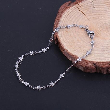 Bracelet étoiles en acier inoxydable