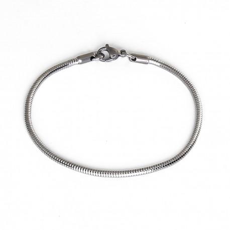 Bracelet maille serpent en acier inoxydable