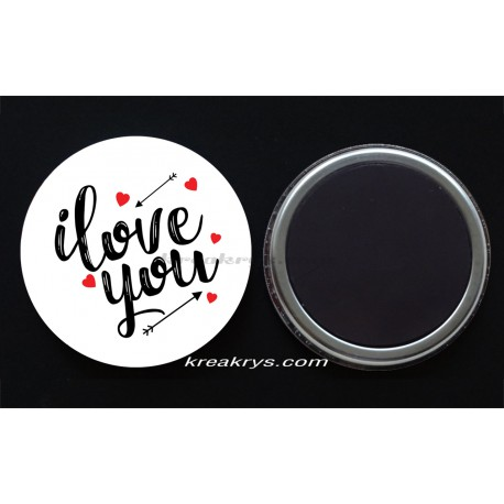 Badge Magnet collection Saint valentin : i love you