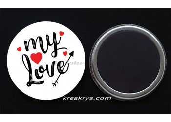 Badge Magnet collection Saint valentin : my love