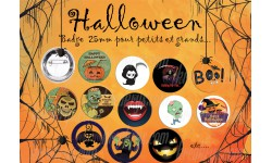 Badge 25 mm Halloween