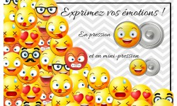 "Bouton pression verre collection ""Emoticônes"""