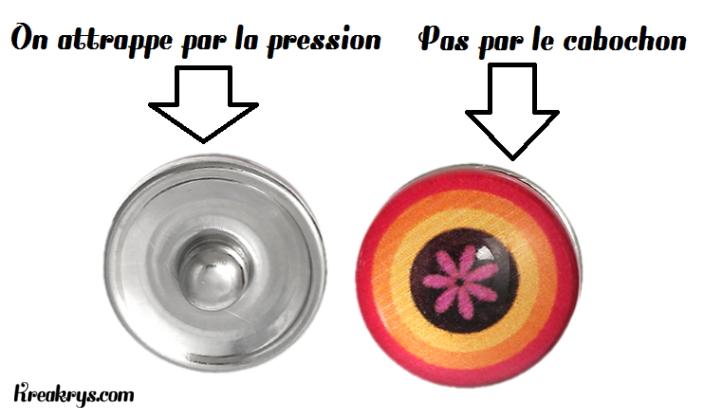Ce qu'il faut attraper pour enlever un bouton pression